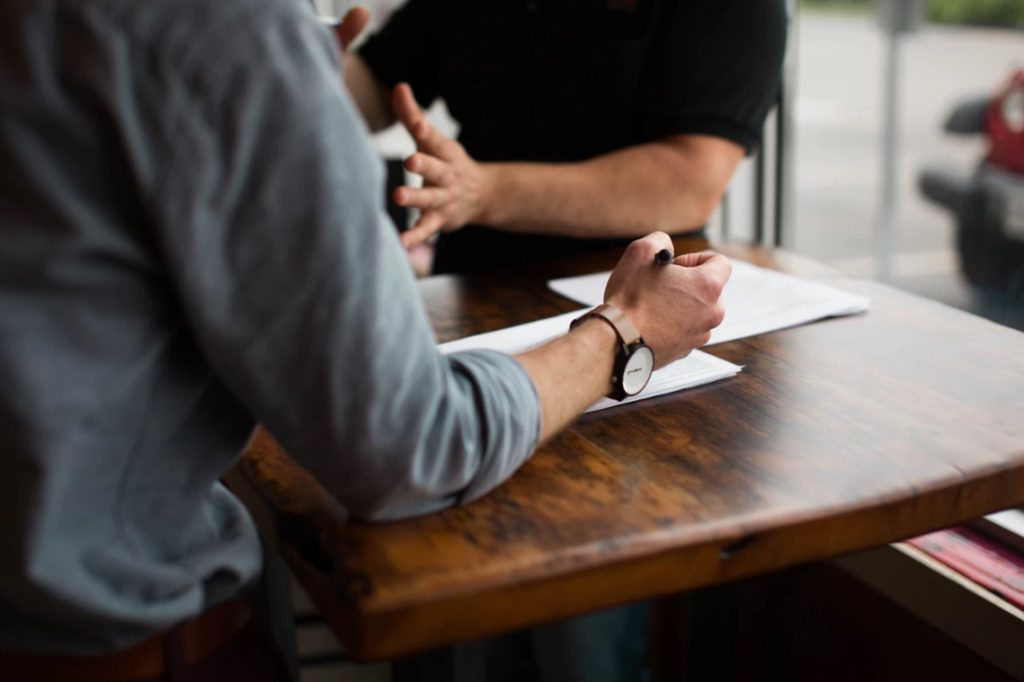 Entretien d'embauche pour le recrutement d'un nouveau salarié