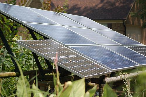 Panneau solaire jardin